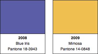 Pantone Colors 2008, 2009