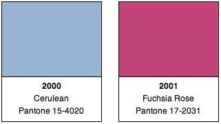 Pantone Colors 2000, 2001