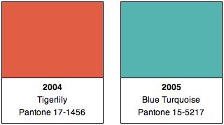 Pantone Colors 2004, 2005