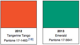 Pantone Colors 2012, 2013
